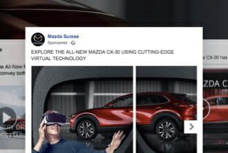 Mazda - Publicités médias sociaux, campagne de newsletter